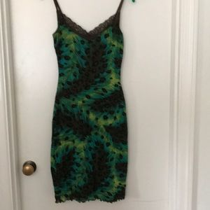 Guess Peacock Stretchy Dress
